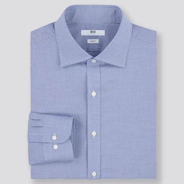 Men Easy Care Checked Slim Fit Shirt (Semi-Cutaway Collar)
