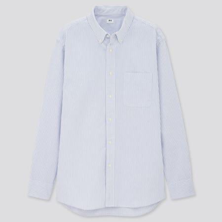 Men Regular Fit Striped Oxford Shirt (Button-Down Collar)