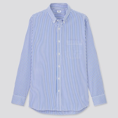 Extra Fine Cotton Broadcloth Regular Fit Striped Shirt (Button-Down Collar)