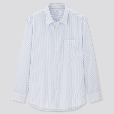 Men Extra Fine Cotton Broadcloth Regular Fit Striped Shirt (Regular Collar)