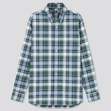 Men Extra Fine Cotton Broadcloth Long-Sleeve Shirt, Green, Medium