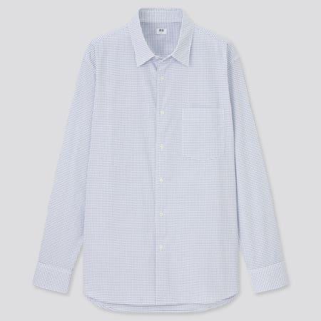 Men Extra Fine Cotton Broadcloth Regular Fit Checked Shirt (Regular Collar)