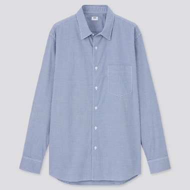 Men Extra Fine Cotton Broadcloth Regular Fit Checked Shirt (Regular Collar)