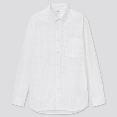 Men Extra Fine Cotton Broadcloth Regular Fit Printed Shirt (Button-Down Collar)