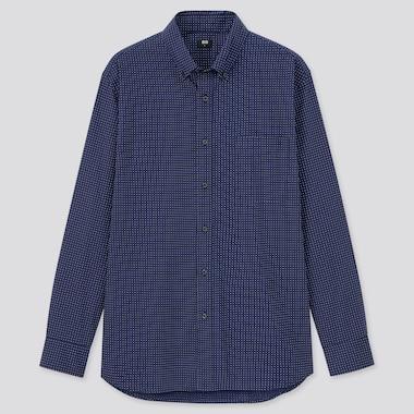 Men Extra Fine Cotton Broadcloth Long-Sleeve Shirt, Navy, Medium