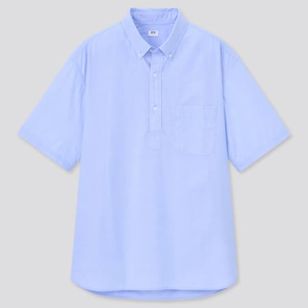 Extra Fine Cotton Broadcloth Regular Fit Short Sleeved Pullover Shirt