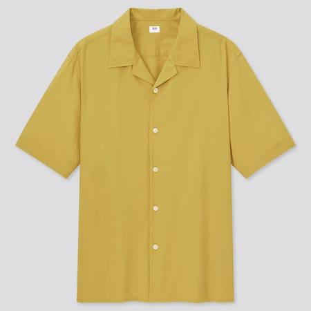 Men Cotton Modal Blend Short Sleeved Shirt (Open Collar)