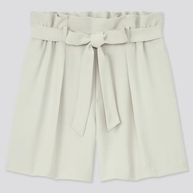 Damen Drape Shorts mit Gürtel