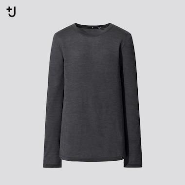 T-Shirt Jersey de Soie Col Rond +J