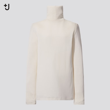 Women +J Silk Jersey Turtleneck Long Sleeved T-Shirt
