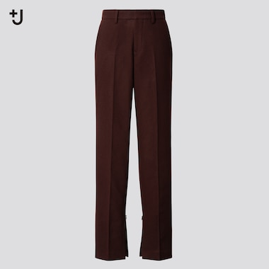 Women +J Wool Flannel Blend Slim Fit Trousers