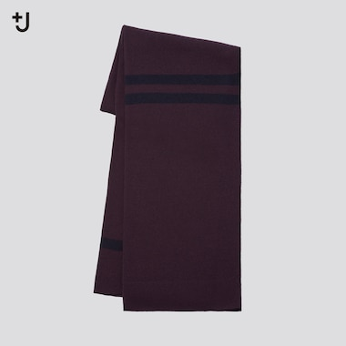 Unisex +J Cashmere Knitted Big Scarf