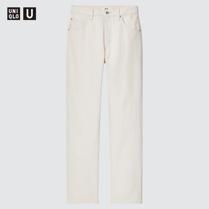 Women U Regular-Fit Straight Jeans, Off White, Large