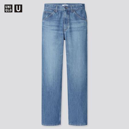 Damen Uniqlo U High Waisted Straight Jeans (Regular Fit)