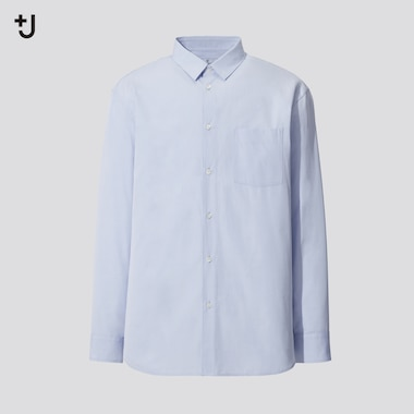 Men +J Supima Cotton Regular Fit Shirt (Half Button-Down Collar)
