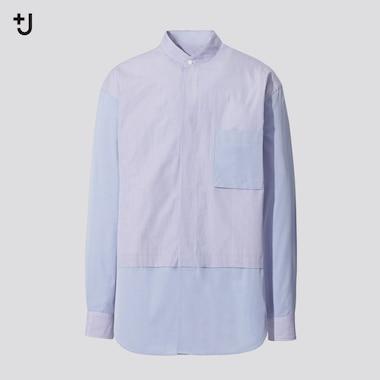 Camicia +J Cotone Supima Oversized Colletto Alla Coreana Uomo