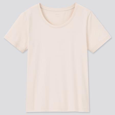 Women AIRism Cotton Crew Neck Short Sleeved T-Shirt