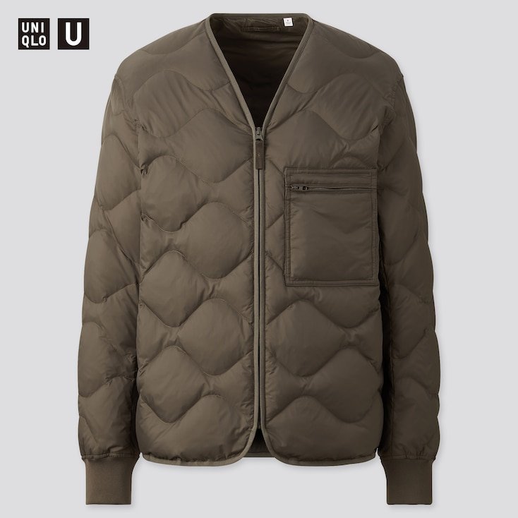U Recycled Down Jacket, Dark Green, Large