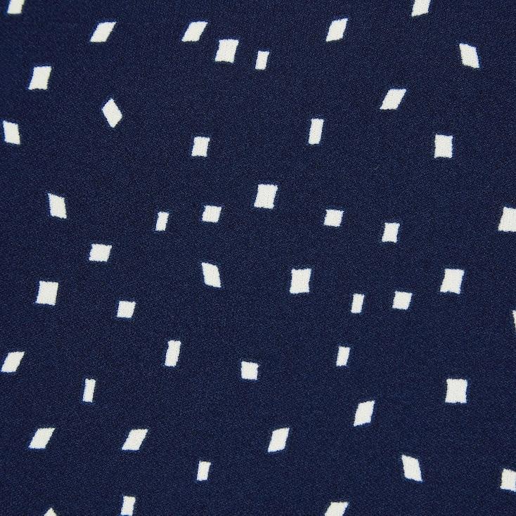 Women Crepe Jersey Short-Sleeve Romper, Blue, Large