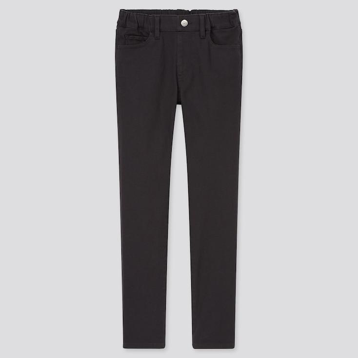 Kids Ultra Stretch Pull-On Slim-Fit Pants, Black, Large