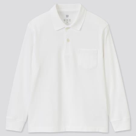 Kids AIRism UV Protection Long Sleeved Polo Shirt
