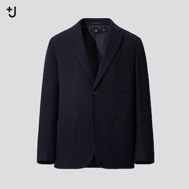 Men +J Wool Blend Oversized Fit Jacket