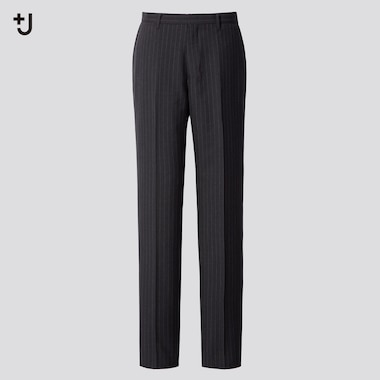 Men +J Wool Blend Striped Trousers