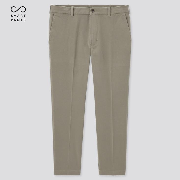 Men Smart 2-Way Stretch Cotton Ankle-Length Pants, Khaki, Large