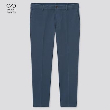 Men Smart 2-Way Stretch Cotton Ankle-Length Pants, Blue, Medium