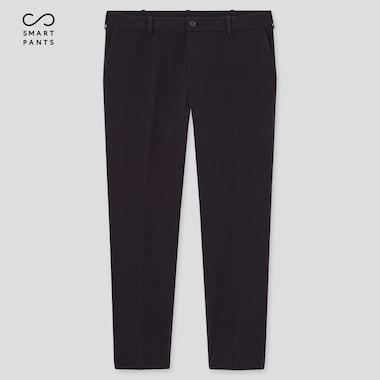 Men Smart 2-Way Stretch Cotton Twill Ankle Pants, Navy, Medium