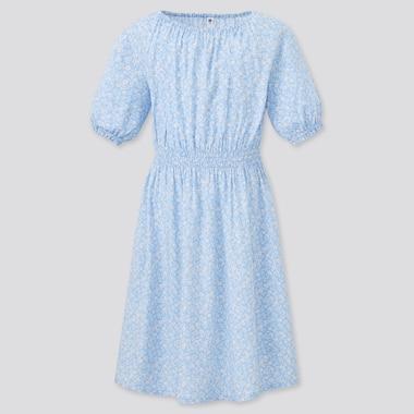 Vestito A Fiori Maniche Corte Bambina