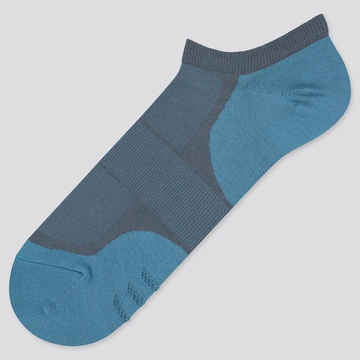 Men Color Block Short Socks, Blue, Large
