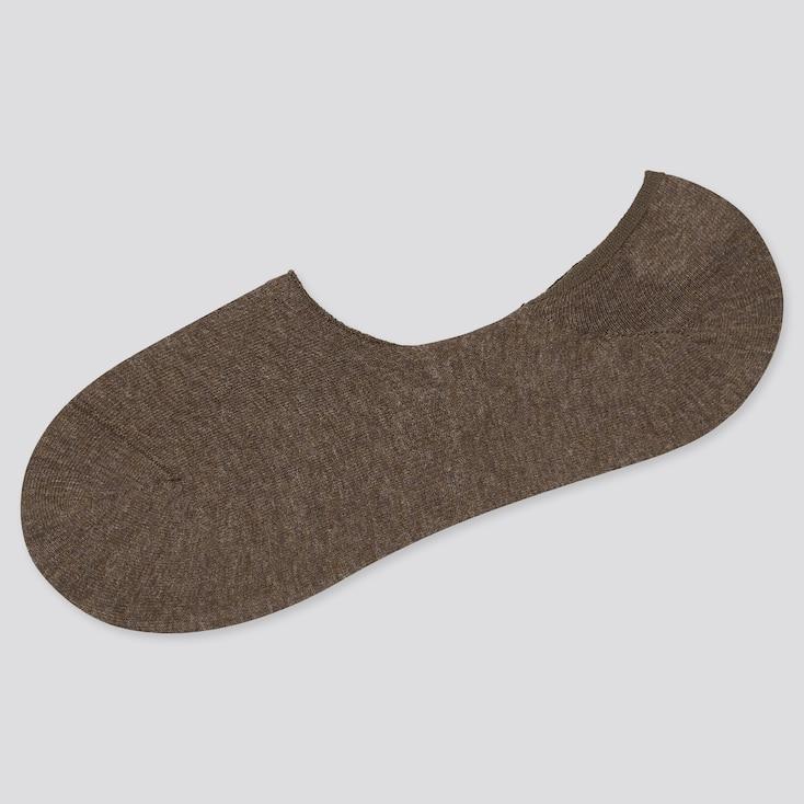 Men Low-Cut Socks, Dark Brown, Large