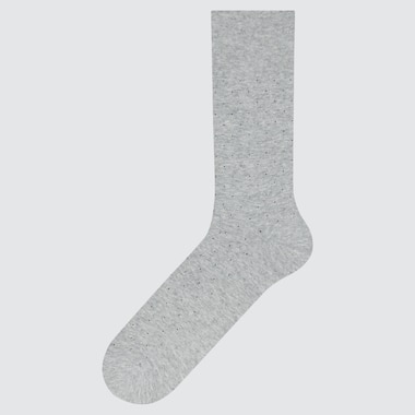 Men Supima© Cotton Dot Socks, Gray, Medium