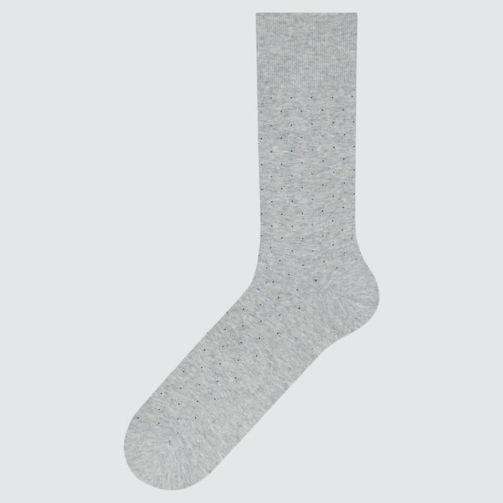 Men Supima© Cotton Dot Socks, Gray, Large