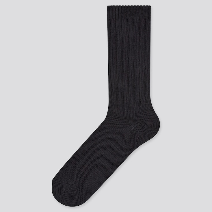Men Low Gauge Socks, Black, Large