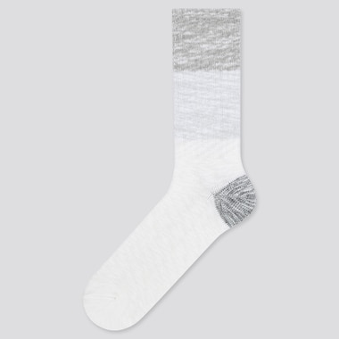 Men Color Block Slub Socks, Gray, Medium