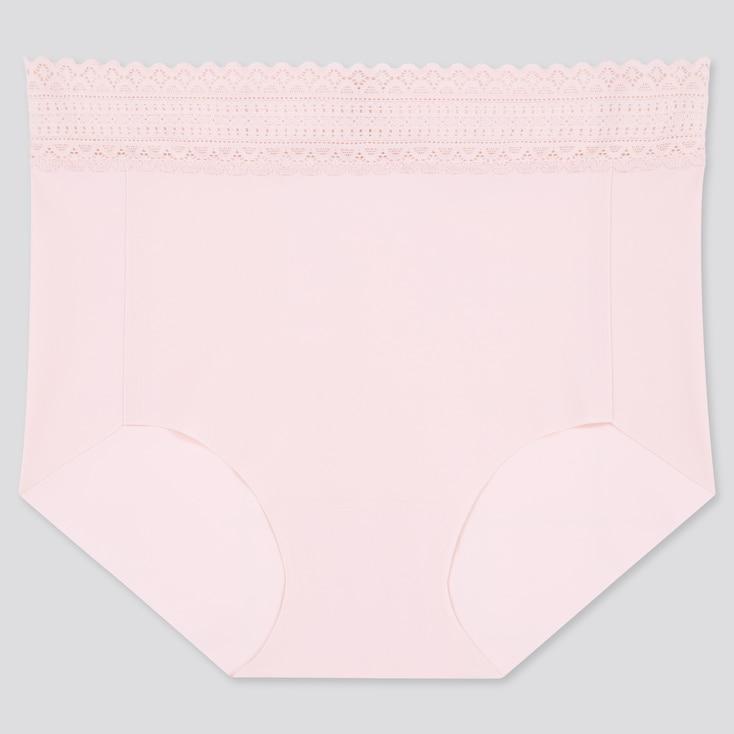 Women Airism Ultra Seamless High-Rise Briefs, Pink, Large