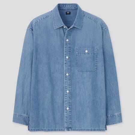 Denim Oversized Fit Shirt