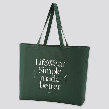 Large Eco-Friendly Printed Bag (Ut Goods), Dark Green, Medium