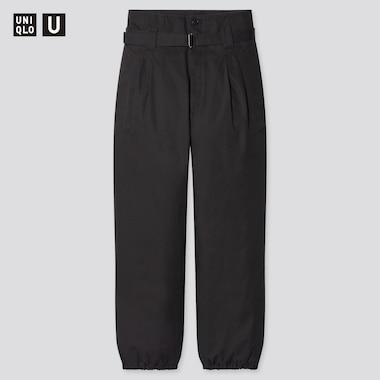 Pantaloni Uniqlo U Cotone Twill Con Cintura Donna