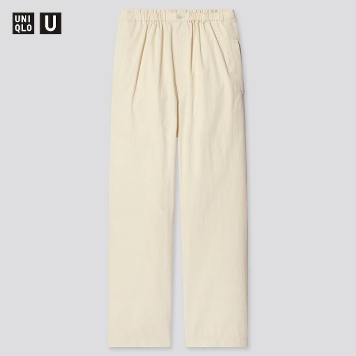 Women U Pajama Pants, Natural, Large
