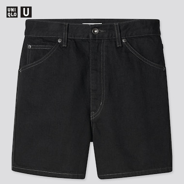Women U Denim Shorts, Black, Medium