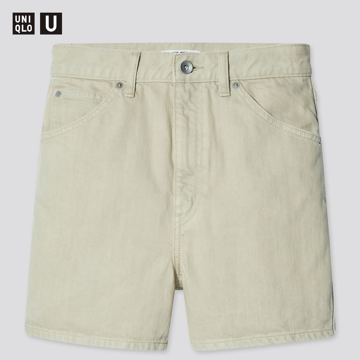 Women U Denim Shorts (Online Exclusive), Light Green, Large