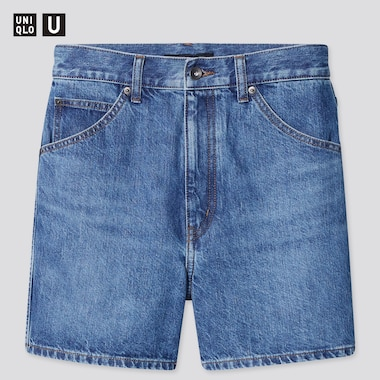 Women U Denim Shorts (Online Exclusive), Blue, Medium