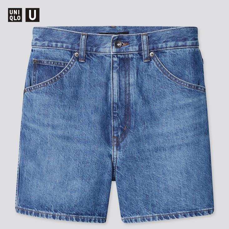 Women U Denim Shorts (Online Exclusive), Blue, Large