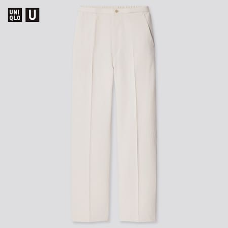 Women Uniqlo U Relaxed Fit Straight Leg Trousers