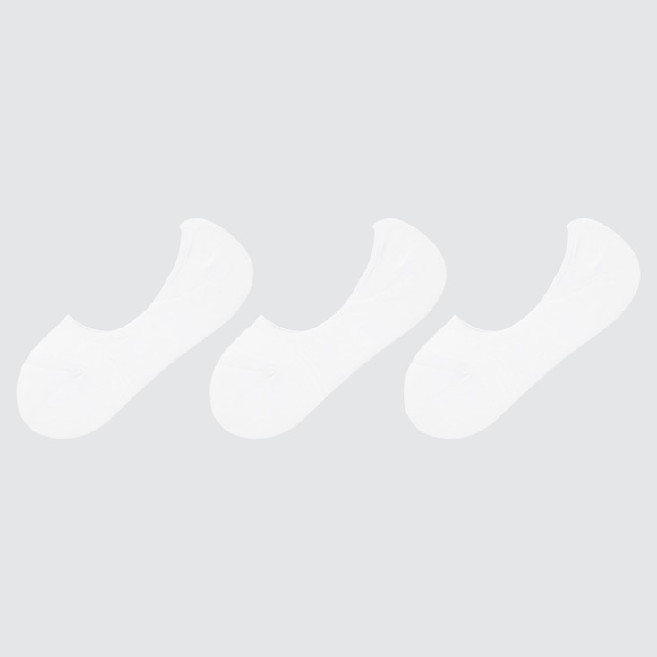 Women Pile-Lined Footsies (3 Pairs), White, Large