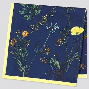 Women Silk Flower Print Scarf