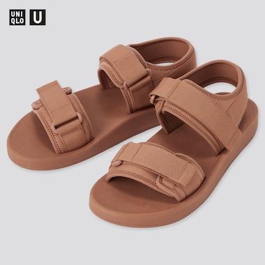 U Tape Sandals, Orange, Medium